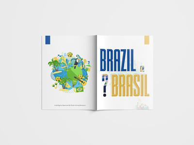 Magazine - Brazil or Brasil? Front & Back graphic design