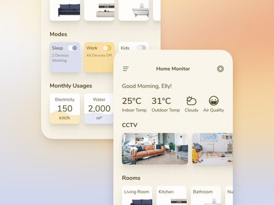 Smart Home App UI dailyuichallenge daily ui icon ux ui design