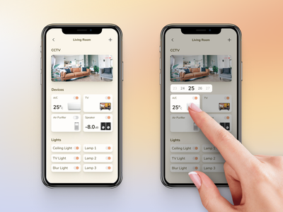 Smart Home APP UI - Interactions minimal remote control home automation clean ui mobileapp design ux ui dailyuichallenge daily ui 021 home monitoring dashboard smart home app interaction app
