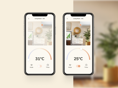 Smart Home APP UI - Device Control controller dashboard design dashboard ui remote control mobileapp home monitoring home automation daily ui 021 ux ui home monitoring dashboard design dailyuichallenge app
