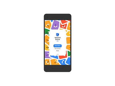 Wizard Score App Homepage Animation web ux minimal logo progressive web app website cards ui animation 2d animation branding app wizard