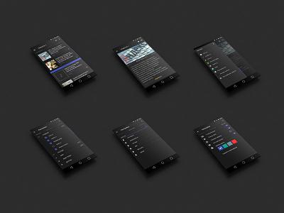 News app UI/UX inteface design ui ux android app interface menu news list