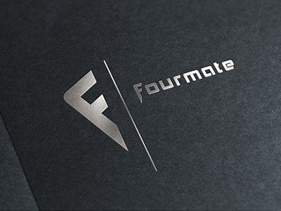 Fourmate Logo logo logotype clean simple mockup silver company f