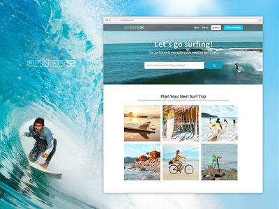 Surfshare life active surfing surf simplicity flat minimal site interface ui web