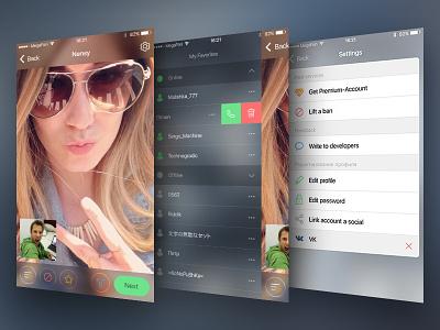 Videochat App ios ui interface