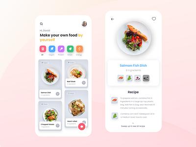 Cooking Recipe clean food ingredient recipe cooking app product design mobile design dailyui