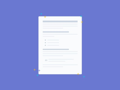 New Document writing sparkles document illustration