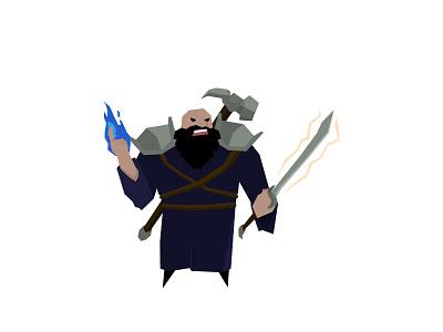 Dwarf Cleric cleric dwarf fantasy games rpg vector character design adobe illustrator illustration