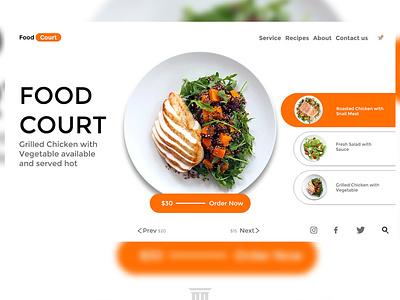 Food Landing page landing page design web website ui design landing design landingpage illustration