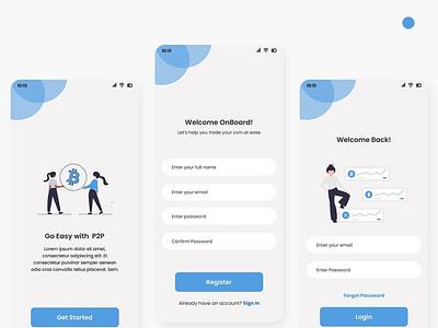 Login Page uiux designer design uiuxdesign uidesign btc app web ux uiux ui