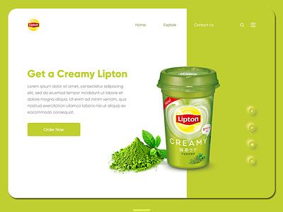Lipton Landing page lipton tea landing page ui website web design ux ui landing design landingpage