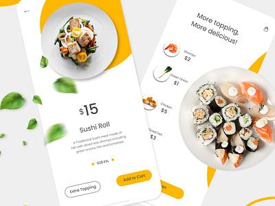 Food UI uiux ui web design app