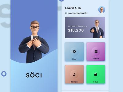 SOCI uiux design bank app ux ui app