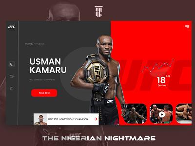 Umaru ui design fight figma ucf landing page design website uiux landingpage landing design web ui design