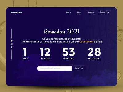 Ramadan Countdown landing page design website figma ux uiux landingpage landing design app web ui design