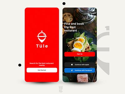 Tule (Resturant Locator) dailyui food figma ux uiux landingpage landing design app web ui design