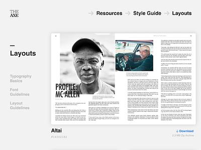 Layout Download Center for School Newspaper page design web responsive ux ui download school newspaper