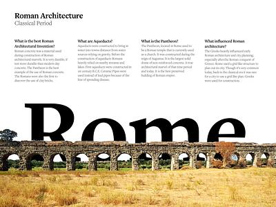 Printout on Roman Architecture illustration print book page minimal design