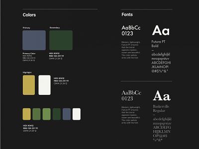 Color Swatch screen colorswatch colors palette board colorscheme colors ux typography web page minimal design