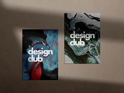 Design Club Posters vibrant bold futura typography artwork club branding high school posters flyers print design abstract art logo page design minimal