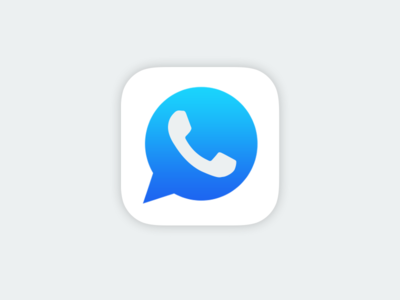 Facebook + WhatsApp iphone flat facebook whatsapp messenger ios7 icon
