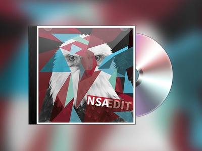 NSA|EDIT CD-Cover cover cd nsa soundcloud designlovr mixtape photoshop illustrator triangles eagle