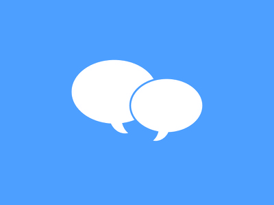 Messages Icon icon flat simple messages