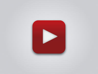 Simple YouTube iOS Icon ui icon youtube ios simple vector google iphone