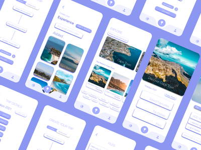 Wonder - Travel App app ui design