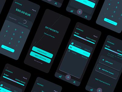 SKYWORTH - Personal Finance App app ui design