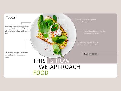 Food Delivery Website delivery food ui web design