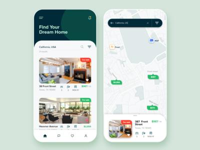 Real Estate Mobile App UI/UX design
