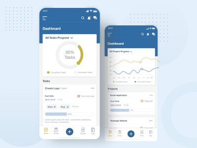 Project management Mobile UI/UX mobie app ui uiux ux user interface design user experience userinterface mobile design