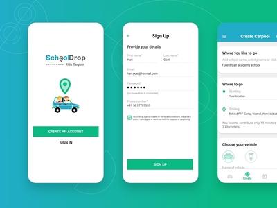 SchoolDrop carpool app