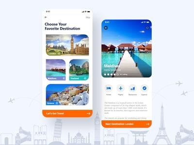 Travel Mobile Application UI/UX design