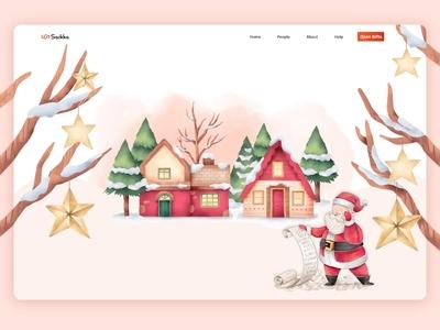 Merry Christmas wishing on website
