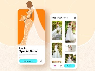 Bridal Gowns mobile app design inspiration
