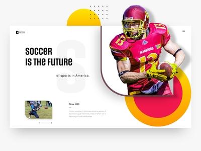 Sports/Soccer creative web page
