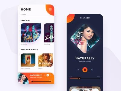 Mobile app to listen millions of songs