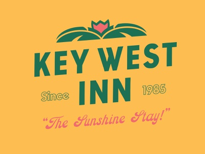 Key West Inn typography minimal illustrator clean vector logo illustration graphic design branding design