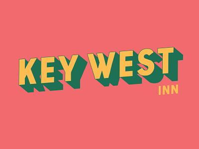 Key West Inn B flat typography minimal illustrator clean vector logo graphic design branding design