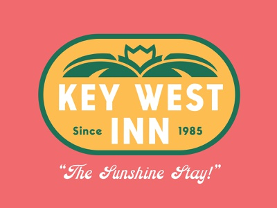 Key West Inn C typography minimal illustrator clean vector logo illustration graphic design branding badge design