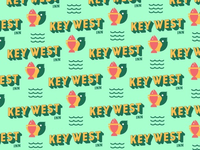 Key West Inn D vector logo clean illustrator icon illustration typography pattern graphic design branding design