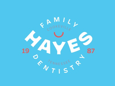 Hayes Family Dentistry Badge dentist icon vector typography logo branding graphic design design badge