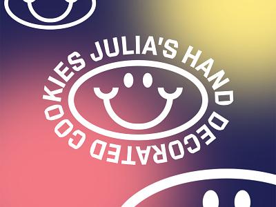 Julia's Cookies Alternate • Cookeville, Tn typography design funky script food cookies branding logo graphic design