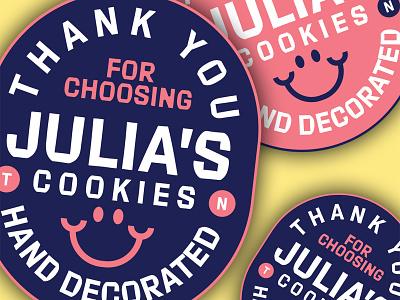 Julia's Cookies Badge • Cookeville, Tn stickers packaging food cookies vector illustration typography logo branding graphic design design