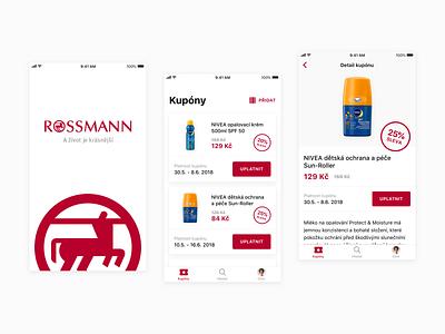 Drugstore Loyalty Program App design layout ux mobile design iphone ios logo ui button clean