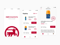 Drugstore Loyalty Program App design layout ux mobile design iphone ios logo ui button clean