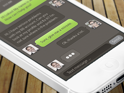 Live support app chat support messenger messages help ui ux button iphone