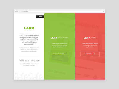 LARX Branches Preview web website html css larx ui ux pattern